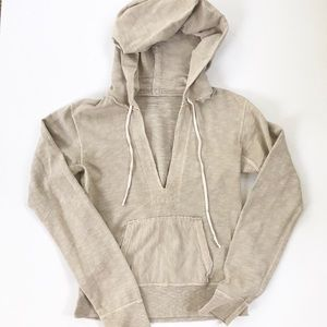 J. Crew French Terry Taupe Hoodie w/ Pocket S
